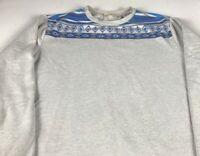 Chip & Pepper Long Sleeve Mens Medium Sweater Sweatshirt Gray Blue Aztec Adult
