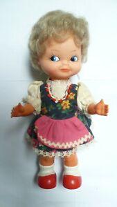 Alte MMM 3M Puppe Aufziehpuppe Tanzpuppe mit Schlüssel 60er Jahre