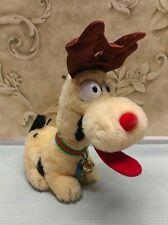 vintage 1983 dakin garfield's odie dog as reindeer antlers stuffed plush animal