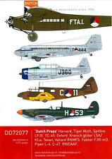 Dutch Decals 1/72 DUTCH PROPS Netherlands Air Force Propeller Aircraft