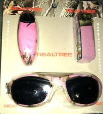 Realtree Pink Camo Sunglasses Retainer and Visor Clip Set, Tri Pack Camouflage