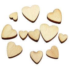 60PCS Wood Love Embellishments HEART Wedding Crafts Cardmaking Scrapbooking
