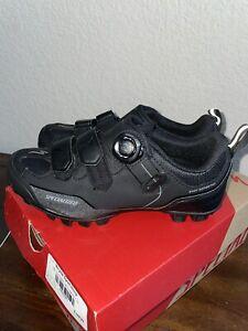 New Specialized Body Geometry Comp MTB Shoes Black 37 EU, 5 USA Boa 61116 2 Bolt