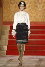 NWT CHANEL Paris Moscow Cashmere Skirt with Paillettes/Fringe