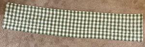"""Sage Green & Cream checkered plaid Farmhouse VALANCE  14"""" x 70"""" Park Designs"""