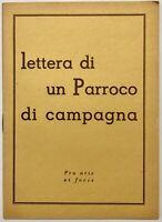 """RSI """" LETTERA DI UN PARROCO DI CAMPAGNA"""" Pro Aris e Focis libro Rep.Soc.Italiana"""