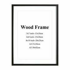 Wooden Frame Solid Picture Photo Mat For Wall Mounting Decoration Home Office