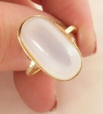 moonstone heavy vintage ring, 14k 585 14ct gold (not 9ct or 18ct) large