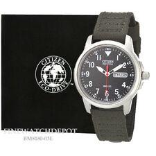 Authentic Citizen Eco-Drive Men's Green Canvas Strap Watch BM8180-03E