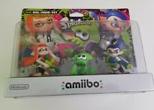 Splatoon 3 Pack Inkling Girl, Boy & Squid Amiibo USA Version Nintendo NIB