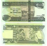 ETHIOPIA 100 BIRR 2015 P-52g UNC - Banknotes Paper Money
