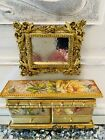 Dolls+House+Gold+%26+Floral+Sideboard+1%2F12+Scale%2C