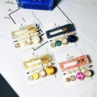 1SET 3Pcs Gold Pin Hairpin Clip Hair Clip Hairband Bobby Pin Barrette T4U5