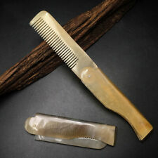 1x Natural Yak Horn Comb Foldable Salon Styling Tool For Hair Care Gifts