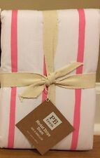 NEW Pottery Barn Teen Market Stripe EURO Sham PINK WHITE