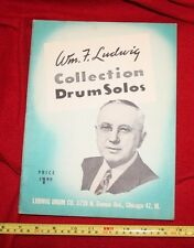 OLD rare❤COLLECTION DRUM SOLOS•Music•Book•march•duets•rudiments•snare•LUDWIG☮63