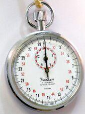 Hanhart Stoppuhr mechanisch 1/10 sec. plus 15 min mit Tasche 60er Jahre