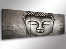 Quadro Moderno 3 pz. BUDDHA 4 - cm 150x50 orientale buddismo budda stampa tela