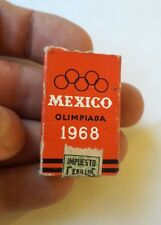 MEXICO matchbook olympic advertisement 1968 full tax stamp Impuesto Cerillos A30