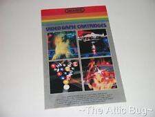 Opuscolo ~ Imagic VIDEO GAME CARTRIDGE ~ ATARI del VCS 2600 (BORDO ARGENTO 1)