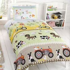 APPLE TREE FARM JUNIOR COT BED DUVET COVER SET TODDLER BEDDING NEW