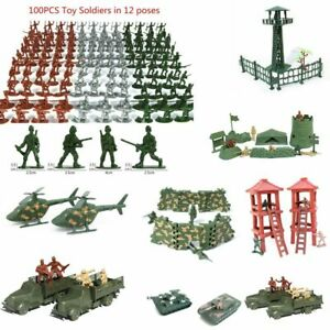 Children Kids Military Toy Soldiers Plastic Army Men Figures 12 Poses Boy Gift