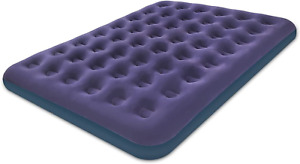 Queen Size Air Mattress for Inflatable - Portable Blue Blow Up Mattresses with F