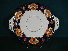 "Royal Albert Heirloom Imari Derby Handled 10 3/8"" Cookie / Cake Plate"