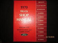 1970 FORD Truck Shop Service Manual Maintenance Volume Five Canada Original OEM