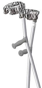 Australian Made ORTHOEZE Padded Forearm Crutch Covers - ZEBRA