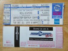 UNUSED NEIL DIAMOND December 21, 1999 WORCESTER CENTRUM CENTER Concert Ticket
