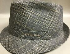 STETSON ITALIAN WOOL BLEND HAT TRILBY FEDORA SMALL BLUE GRAY S 55CM 6 7/8