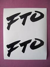 FTO Decals/Stickers x2
