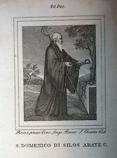 S. Domenico Silos Ab. 20 dicembre 1840 Incisioni Santino Acquaforte Stampa Banzo