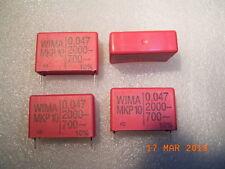 Mkp10 WIMA POLIPROPILENE Condensatore Capacitor 0.047uf 2000vdc 700vac 4pcs