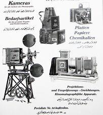 ICA fotocamera Dresda XXL insegne 1916 arabo Cinema Proiettore camera pubblicità ad