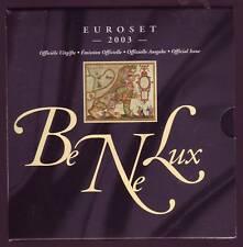 COFFRET  BU  BENELUX  2003  LES 3 SERIES
