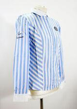 L'Argentina Damen Bluse Hemd hellblau gestreift Gr. 38 NEU mit Etikett