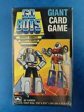 Vintage Unopened GO BOTS - GIANT CARD GAME Mighty Robots Vehicles 1985 Tonka