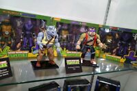 NECA 7'' Scale Teenage Mutant Ninja Turtles Rocksteady&Bebop 2PCS Action Figure