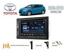 "2009-2010 TOYOTA MATRIX CAR STEREO KIT, BLUETOOTH 6.2"" LCD TOUCHSCREEN DVD USB"