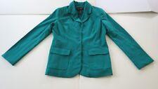 MetroStyle Stretch Size 8 Women's Green Jacket Blazer Polyester Rayon Spandex