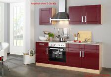 Küchenblock ohne Geräte Einbauküche ohne Elektrogeräte Küchenzeile 210 cm rot