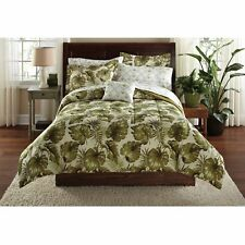 King Comforter Sheet Set Tropical Exotic Palm Grove Reversible Coastal Bedding