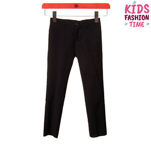 GUSELLA Wool Flat Front Trousers Size 4Y Zip Fly Made in Italy