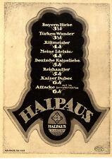 Kaiser-Liebe Reichs-Adler Bayern-Hiebe Türken-Wunder Halpaus Cigaretten  v.1917