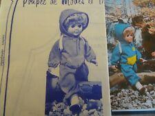 T17 PATRON POUPEE J.MICHEL MODES & TRAVAUX JOGGING A CAPUCHE DECEMBRE 1976