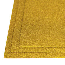 Self-Adhesive Glitter EVA Foam Sheet, 8-Inch x 12-Inch, 3-Piece, Gold