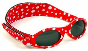 Baby Banz ADVENTURER SUNGLASSES 0-2YRS RED DOT Comfortable baby Toddler Size BN