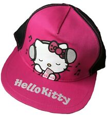Hello Kitty Child's Baseball Cap 4 - 8 Years Pink / Black